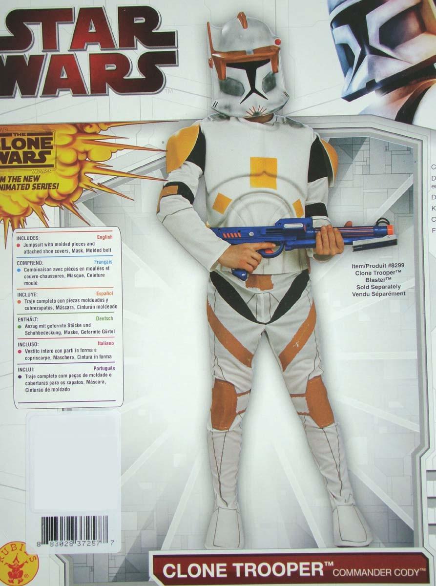 star wars clone trooper klon krieger kost m cody deluxe gr 128 146 152 ebay. Black Bedroom Furniture Sets. Home Design Ideas