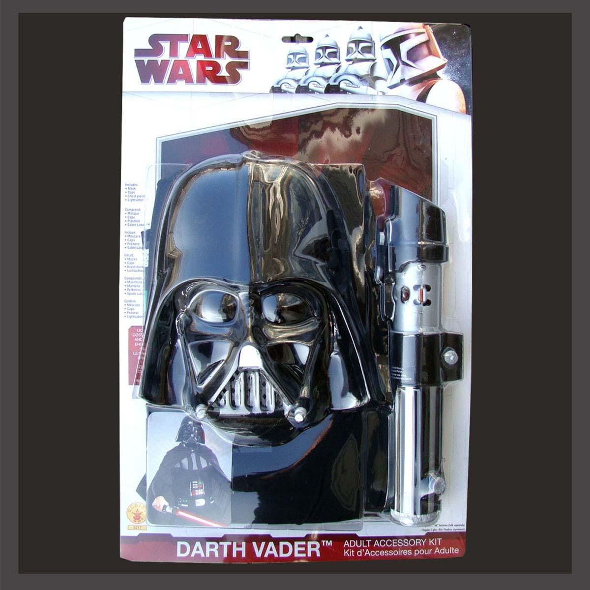 darth vader kost m maske lichtschwert gr 158 176 neu ebay. Black Bedroom Furniture Sets. Home Design Ideas