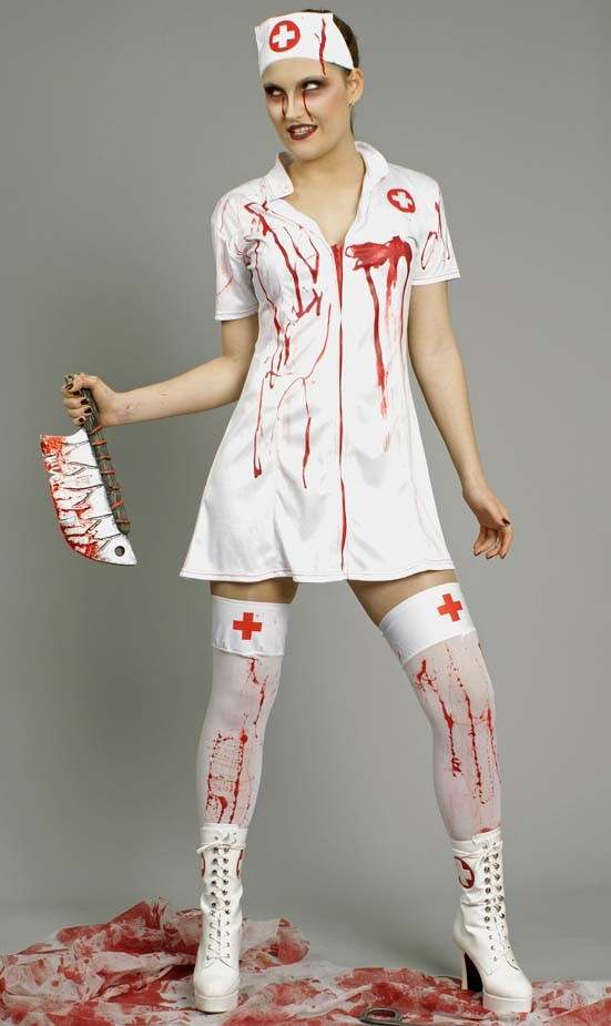 halloween kost m zombie krankenschwester gr 36 38 40 42 44 46 faschingskost m ebay. Black Bedroom Furniture Sets. Home Design Ideas