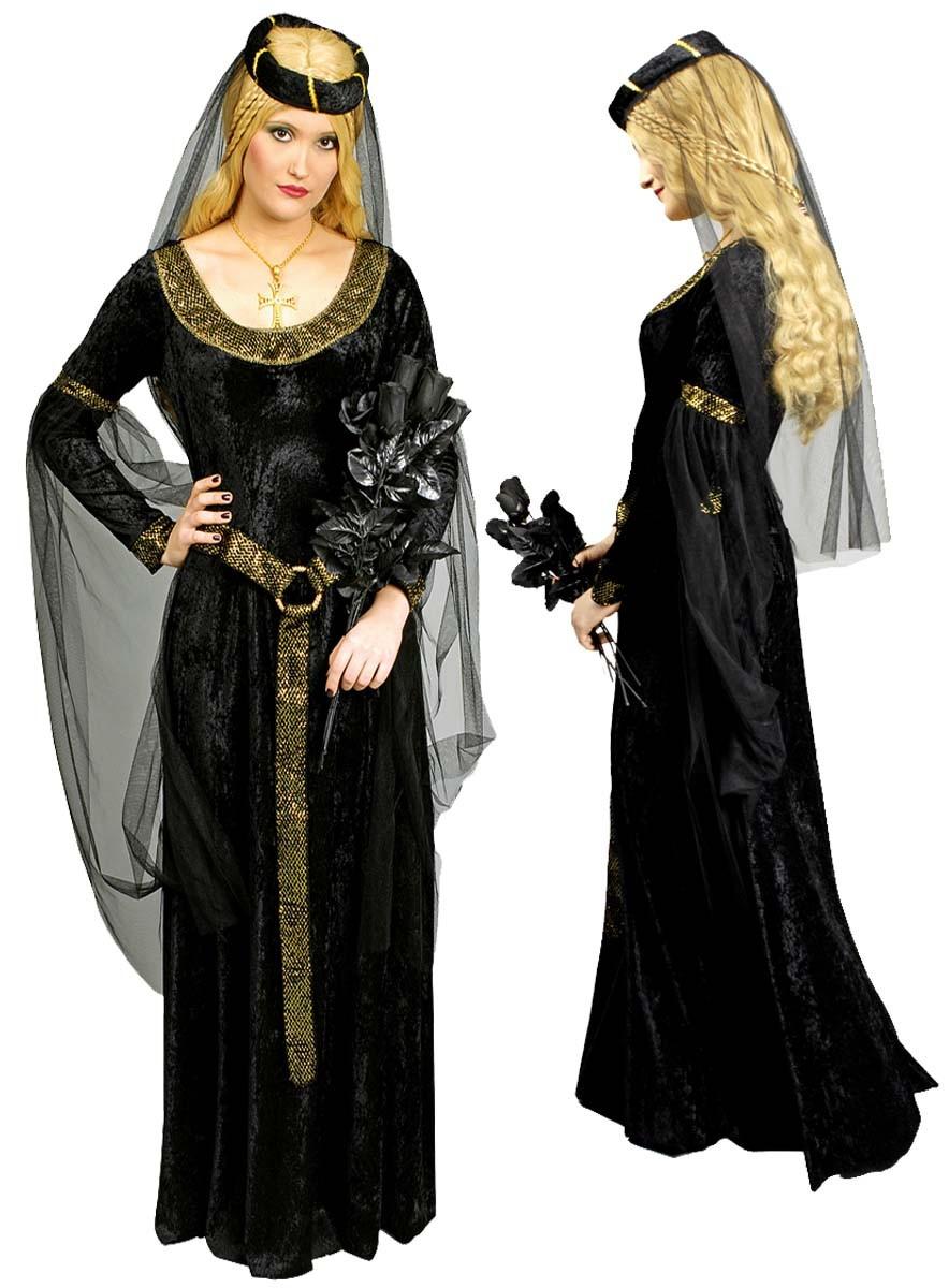 burgfr ulein kost m mittelalter kleid gothic outfit. Black Bedroom Furniture Sets. Home Design Ideas