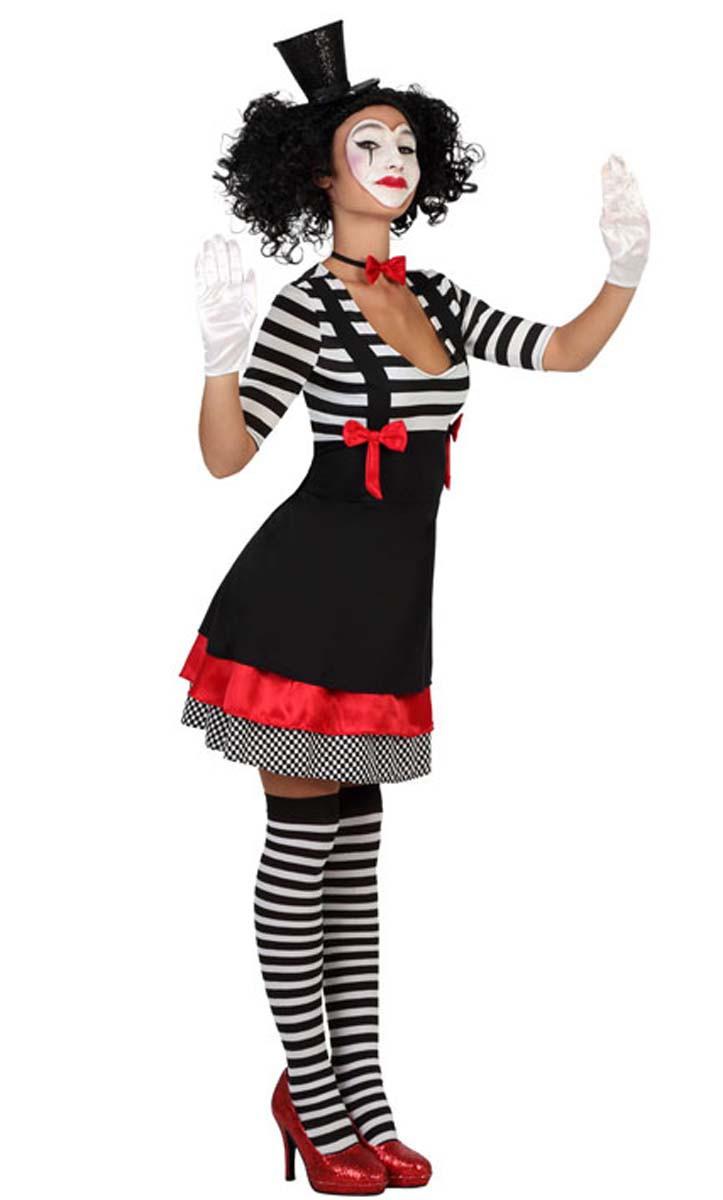 clown kost m harlekin pierrot narr pantomime kleid gr s m l ebay. Black Bedroom Furniture Sets. Home Design Ideas