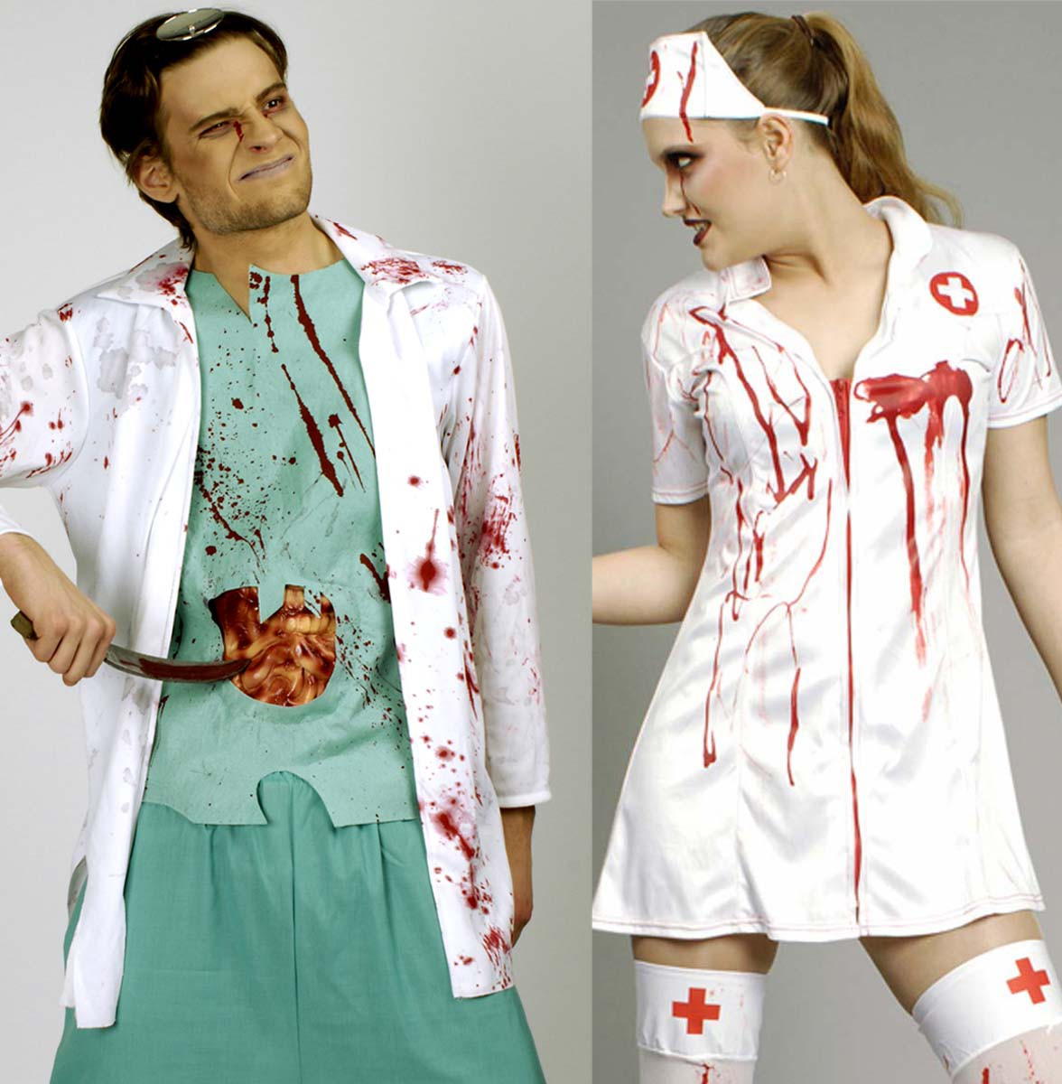 zombie arzt kost m blutiger chirurg doktor krankenschwester halloween ebay. Black Bedroom Furniture Sets. Home Design Ideas