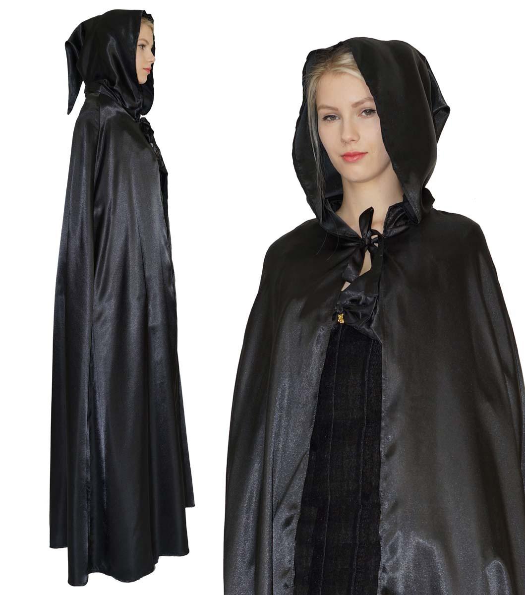 umhang mittelalter cape vampir kost m hexe f r damen. Black Bedroom Furniture Sets. Home Design Ideas