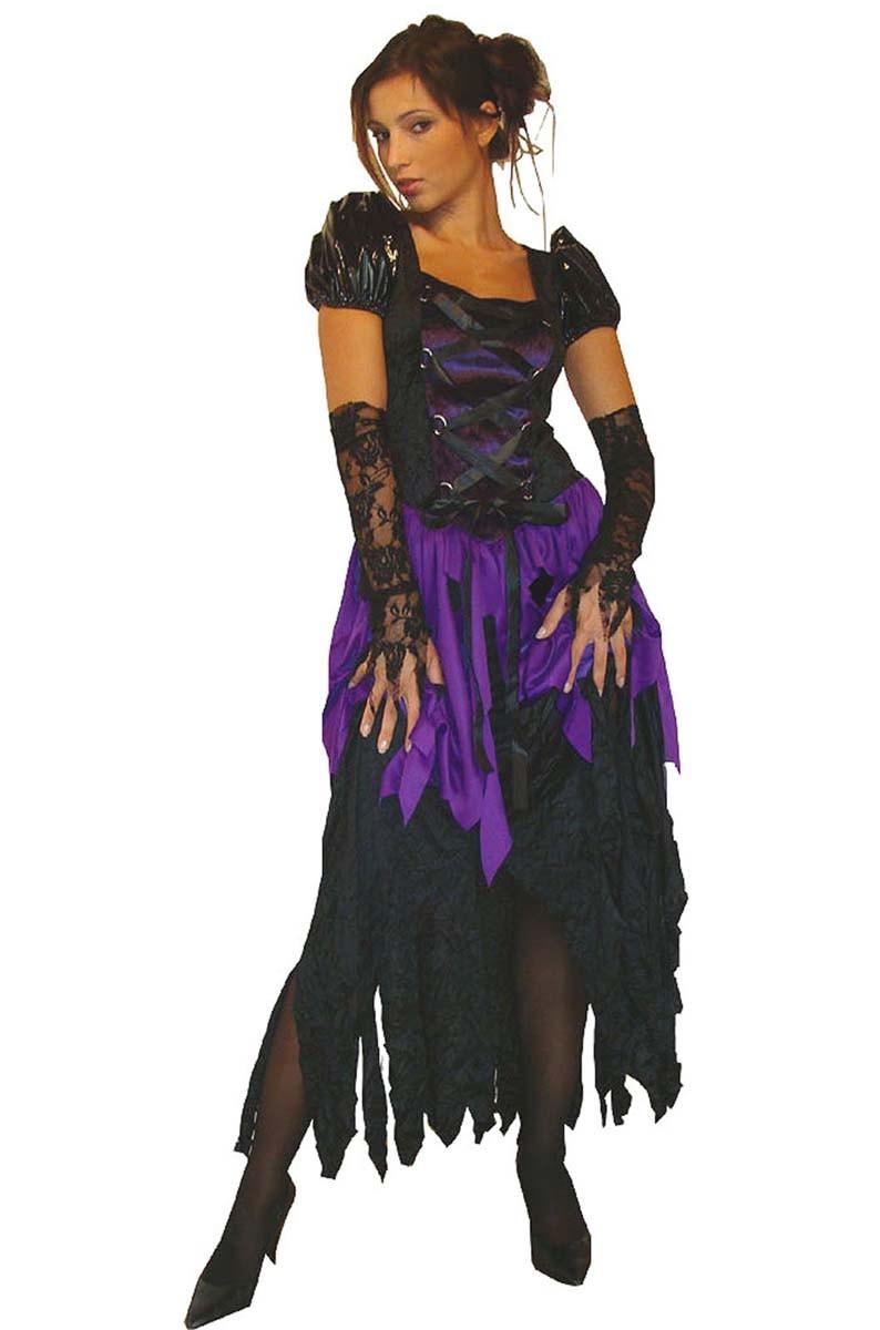halloween kost m hexe piratin schattenbraut mit armstulpen. Black Bedroom Furniture Sets. Home Design Ideas